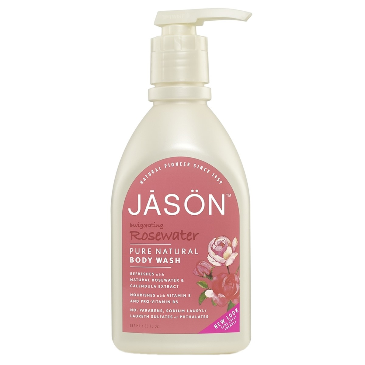 Jason  Invigorating Rosewater Body Wash