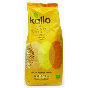Kallo Organic Honey Puffed Rice Cereal