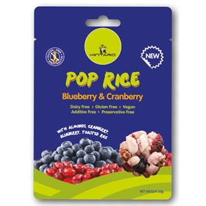 Kintaro Pop Rice Clusters - Blueberry & Cranberry