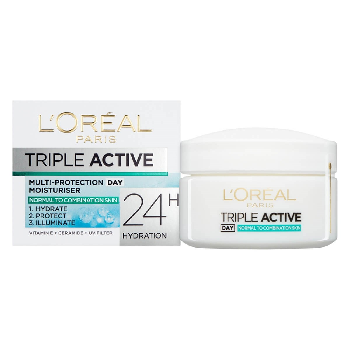 L'Oreal Paris Triple Active Day Moisturiser  - Normal To Combination Skin