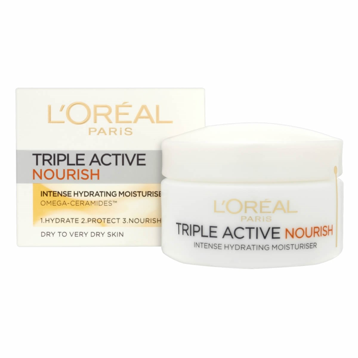 L'Oreal Paris Triple Active Nourish Moisturiser - Dry to Very Dry Skin