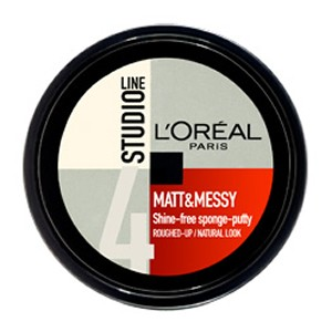 L'Oreal Paris Studio Line Matt & Messy Shine-Free Sponge - Putty