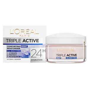 L'Oreal Paris Triple Active Night Hydrating Moisturiser - All Skin Types