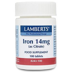 Lamberts Iron 14mg (as Citrate)