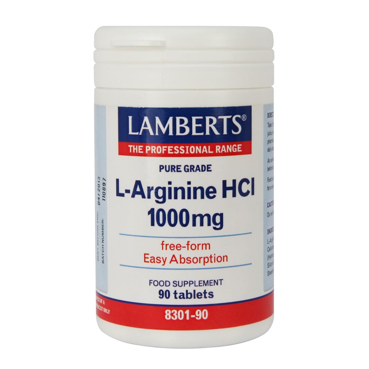 Lamberts L-Arginine HCI 1000mg