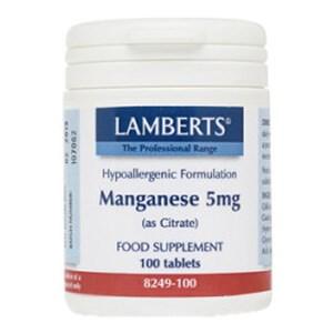 Lamberts Manganese 5mg (as Amino Acid Chelate)