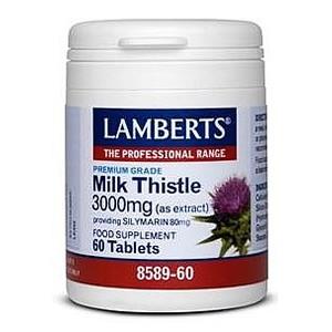 Lamberts Milk Thistle 3000mg providing Silymarin 80mg