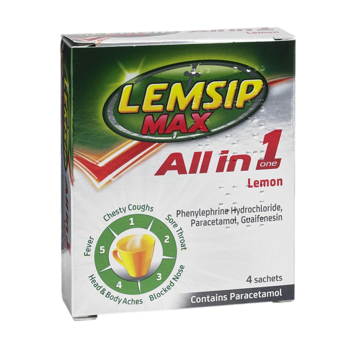 Lemsip Max All In One Lemon Sachets