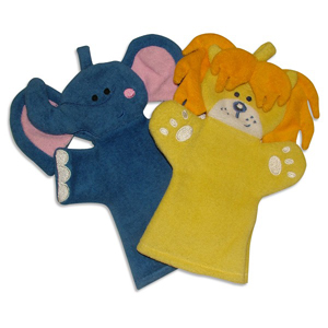 Little Wonders Small Safari Bath Mitts - Pack of 2