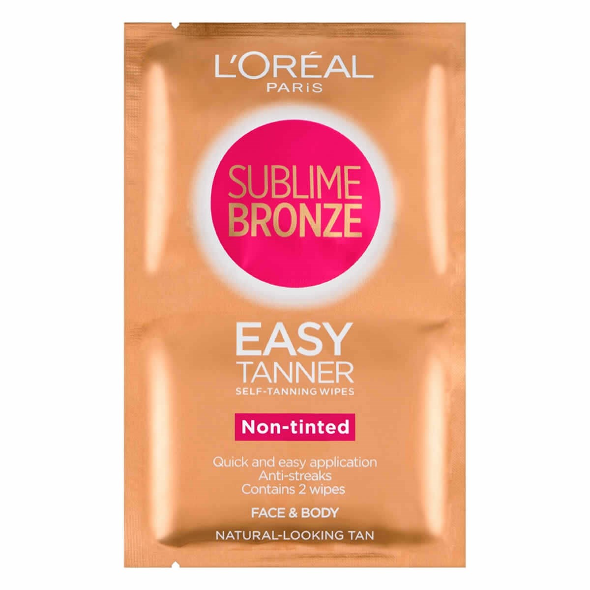 L'Oreal Paris Sublime Bronze Easy Tanner Self-Tanning Wipes For Face & Body Non-tinted