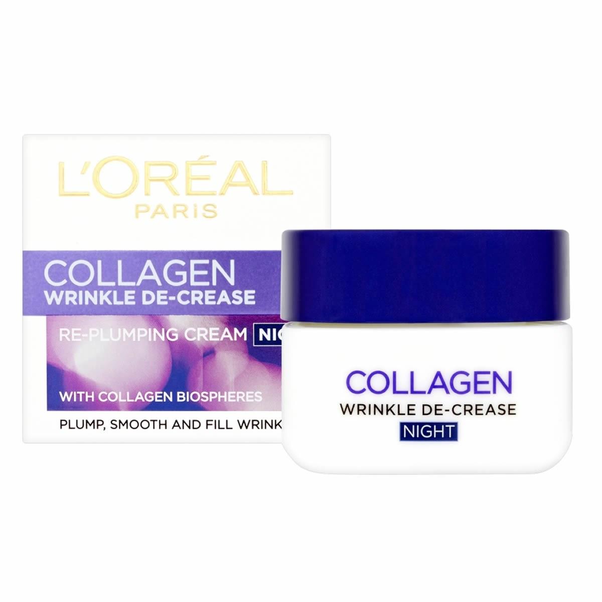 L'Oreal Paris Wrinkle De-Crease Collagen Re-Plumping  Night Cream