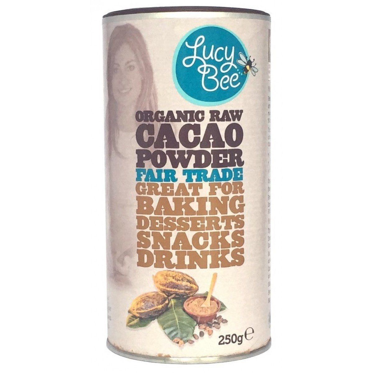 Lucy Bee Raw Fair Trade Cacao Powder