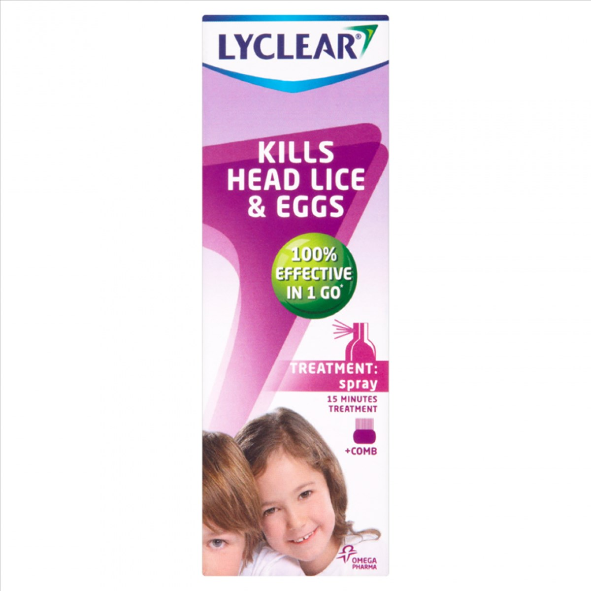 Lyclear Kills Head Lice and Eggs - Treatment Spray + Comb