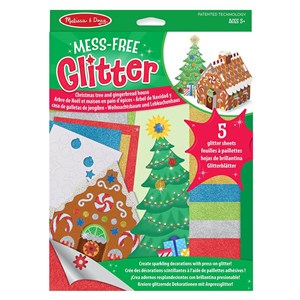 Melissa and Doug Mess Free Glitter - Christmas Tree & Gingerbread House  5+ Years