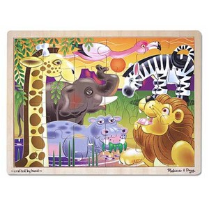 Image of Melissa & Doug African Plains Jigsaw Puzzle 24 Piece