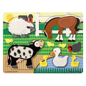 Image of Melissa & Doug Farm Animals Touch and Feel Puzzle