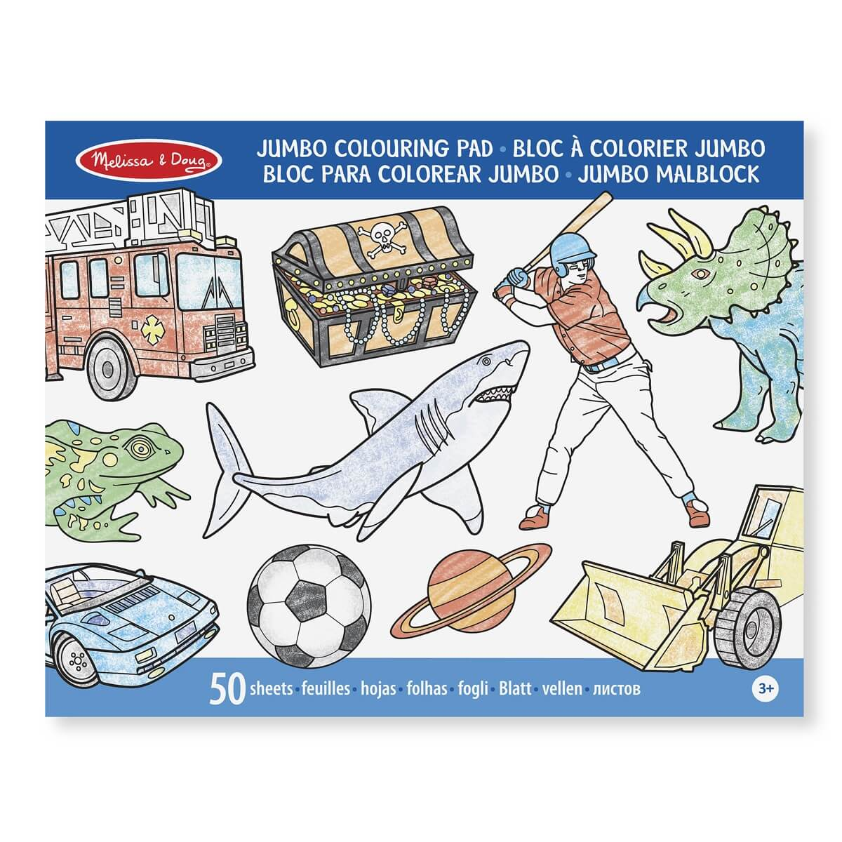 eChemist.co.uk | Melissa & Doug Jumbo Coloring Pad - Blue
