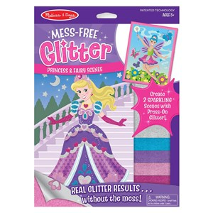 Melissa & Doug Mess-Free Glitter Scenes - Princess and Fairy