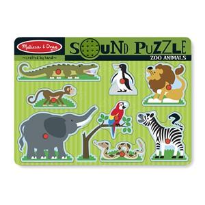 Image of Melissa & Doug Sound Puzzle - Zoo Animals