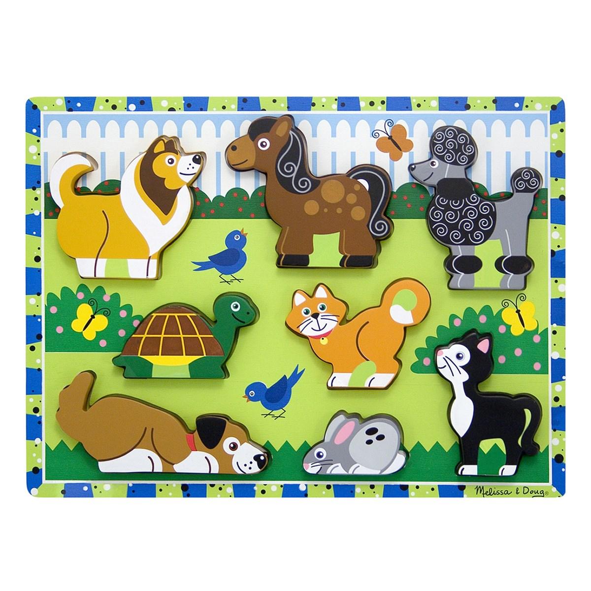 Melissa & Doug Wooden Chunky Puzzle Scene - Pets