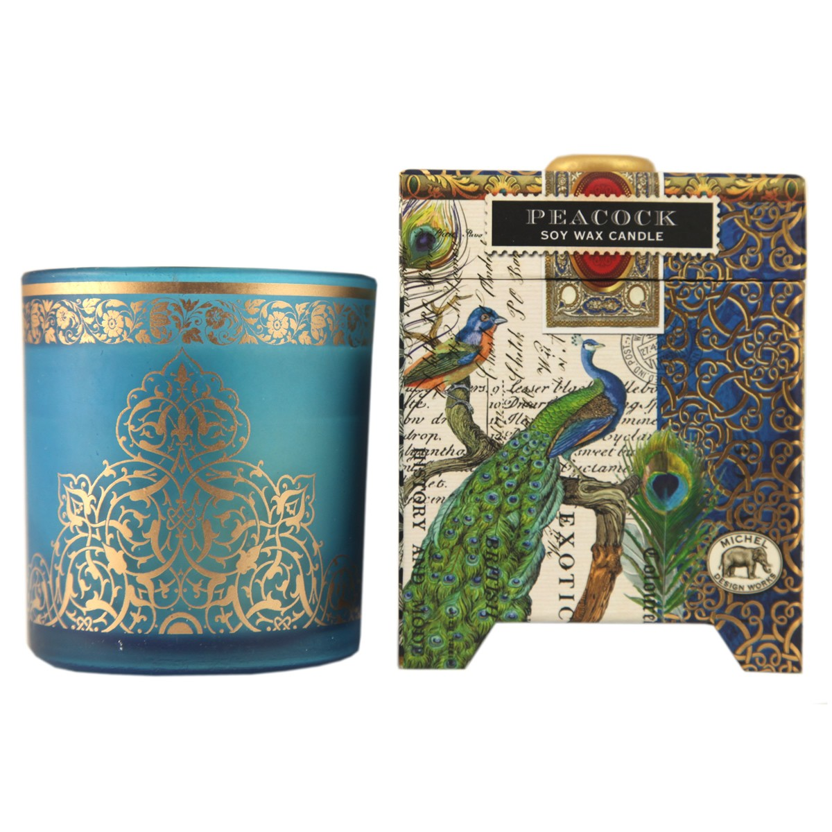 Michel Design Works Peacock Small Soy Wax Candle
