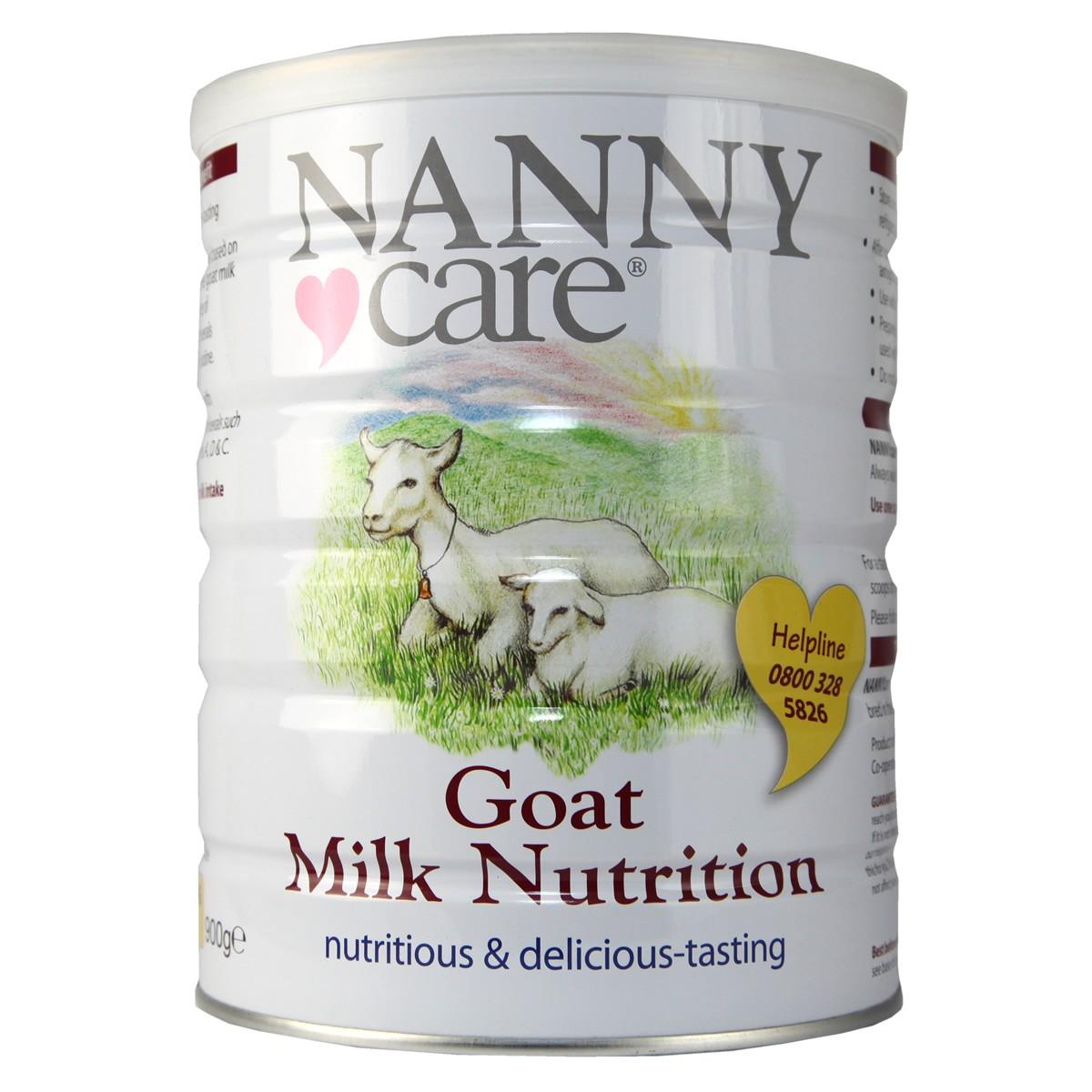Nanny Care Goat Milk Nutrition