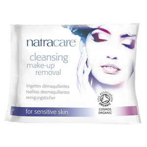 Natracare Organic Cleansing Make-up Removal Wipes for Sensitive Skin