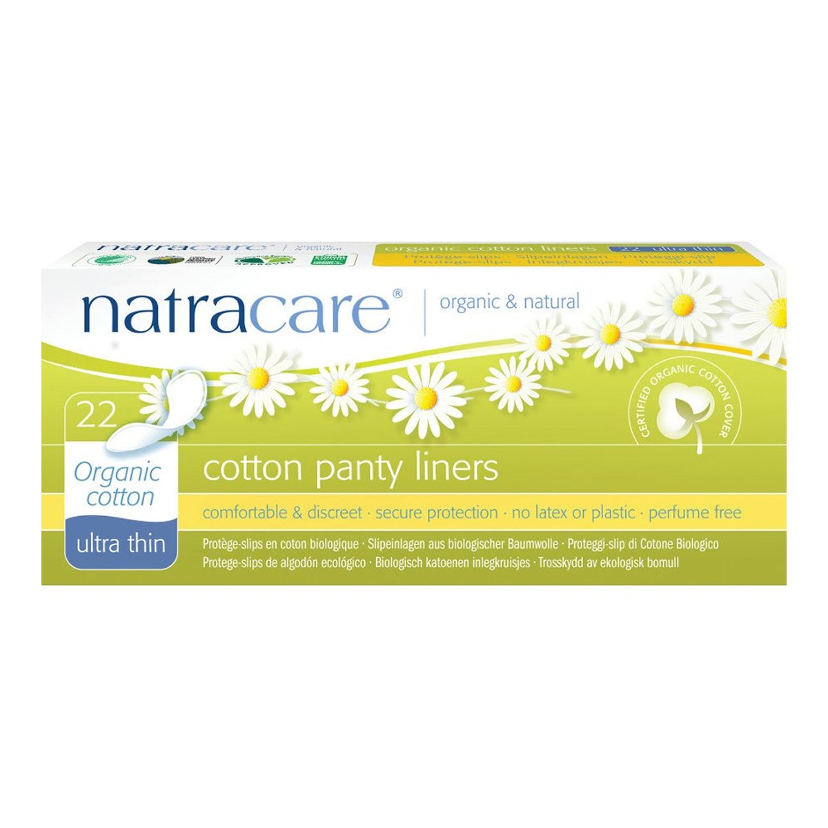 Natracare Organic & Natural  Cotton Panty Liners - Ultra Thin