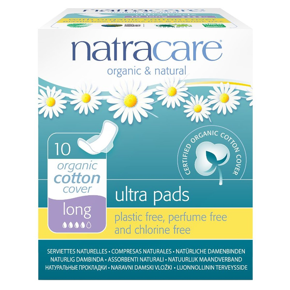 Natracare Organic & Natural Ultra Pads - Long (with wings)