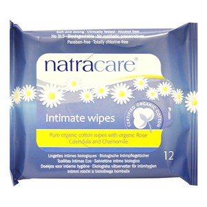 Natracare Pure Organic Cotton Intimate Wipes