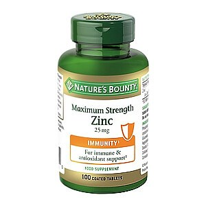 Nature's Bounty Maximum Strength Zinc 25 mg