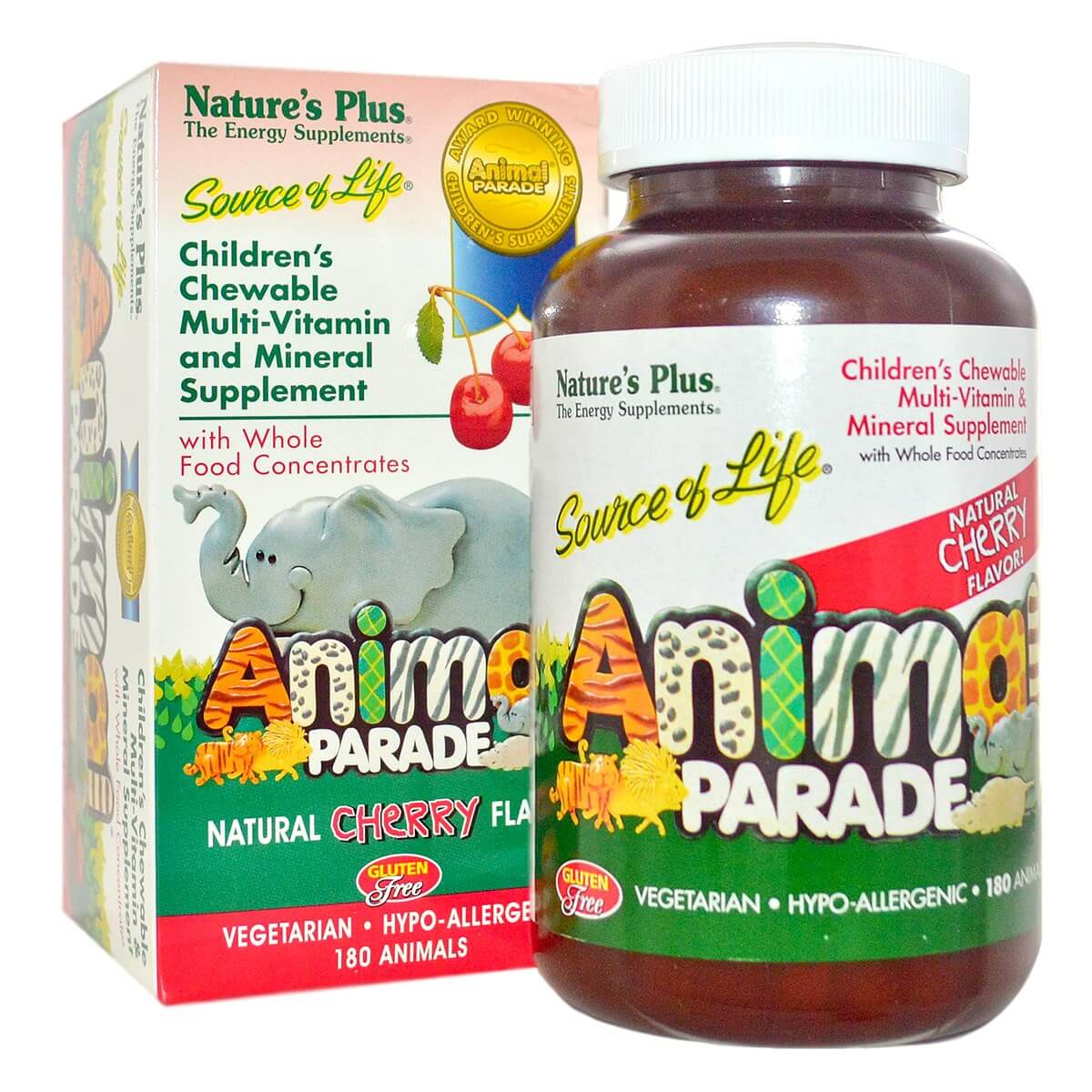 Natures Plus Source of Life Animal Parade - Cherry Flavor Chewables