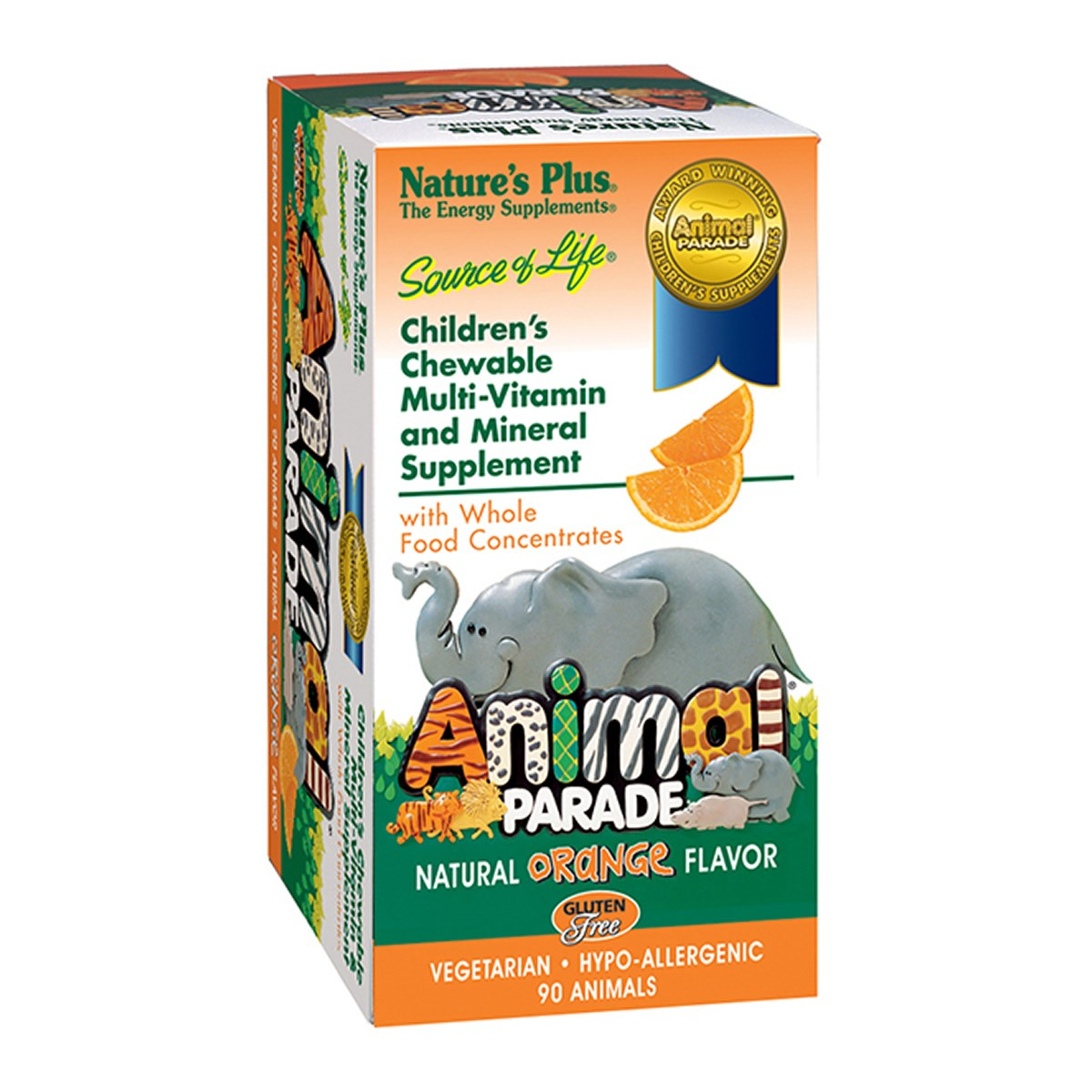 Natures Plus Source of Life Animal Parade - Orange Flavor Chewables