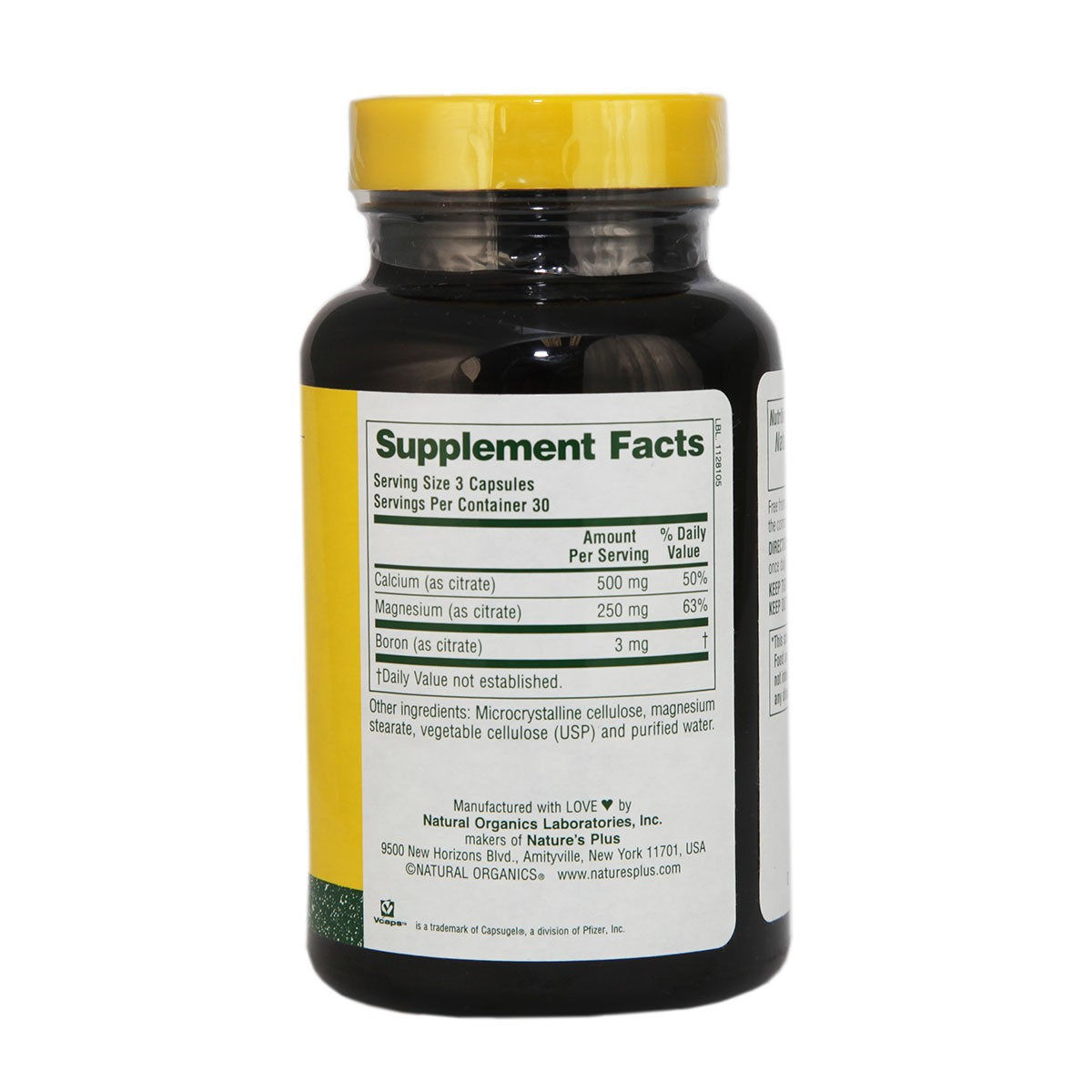 Natures Plus Cal/Mag Citrate Vcaps