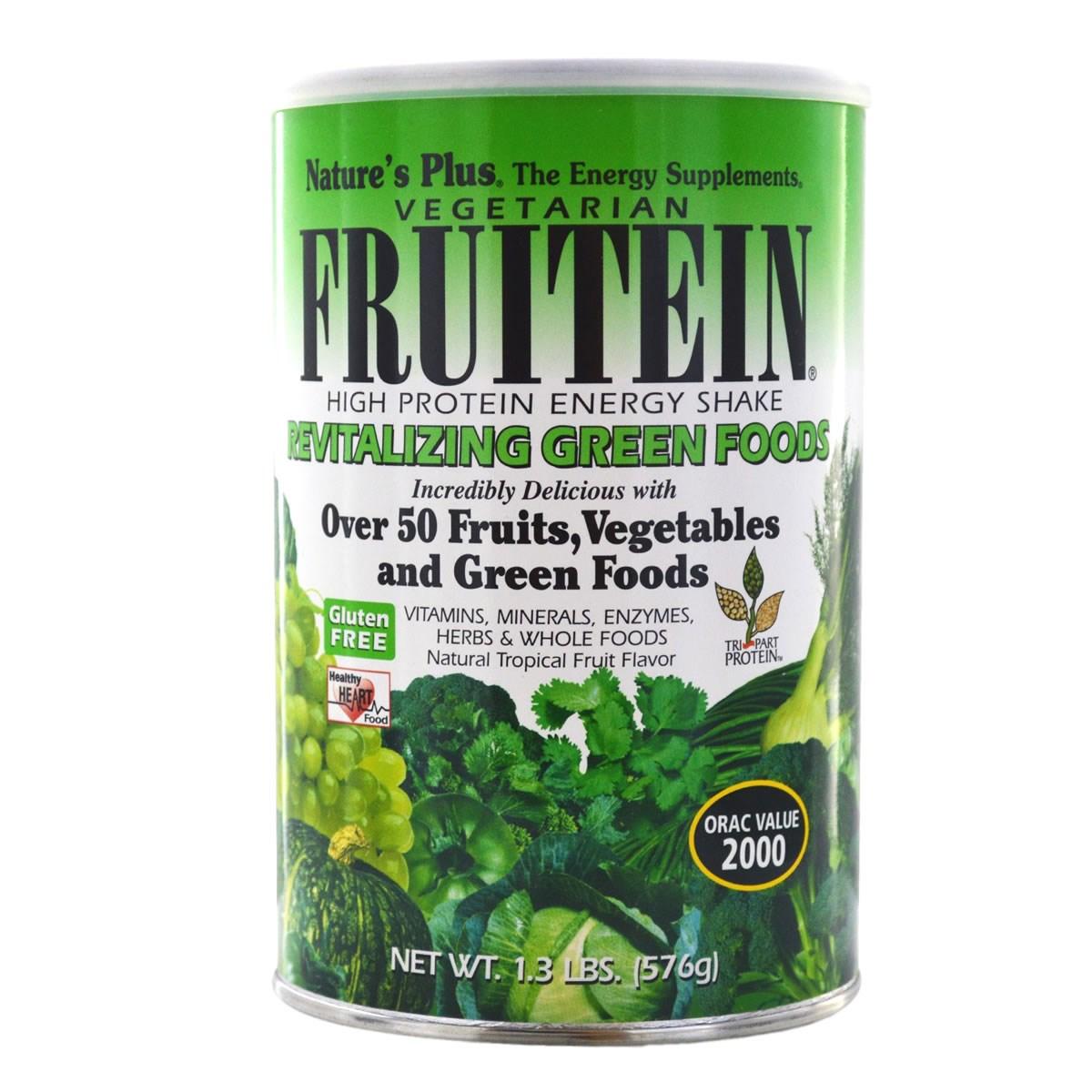 Natures Plus Fruitein Revitalising Green Foods Shake