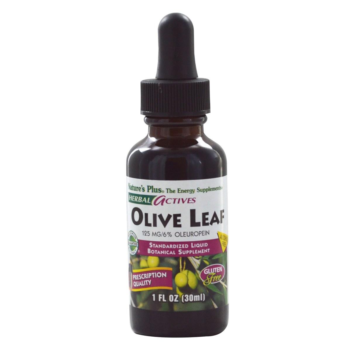 Natures Plus Herbal Actives Olive Leaf Liquid Suspension