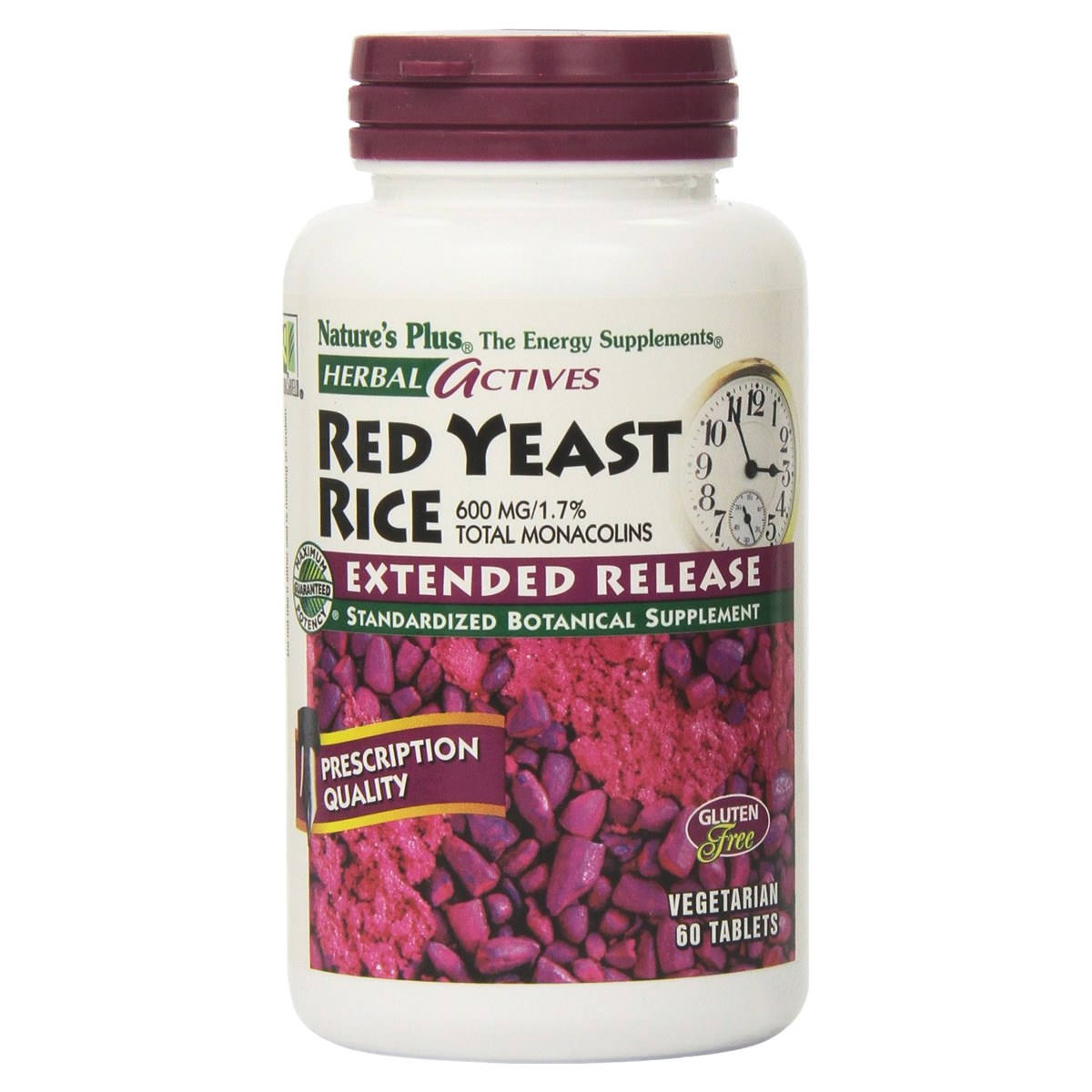 Natures Plus Herbal Actives Red Yeast Rice 600 mg Extended Release Tablets