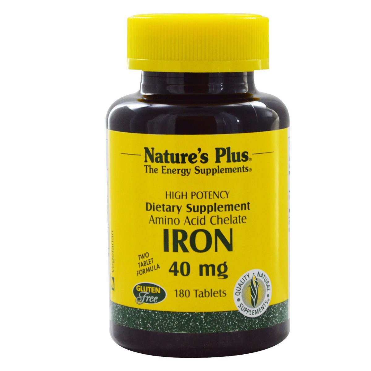 Natures Plus Iron 40 mg Tablets
