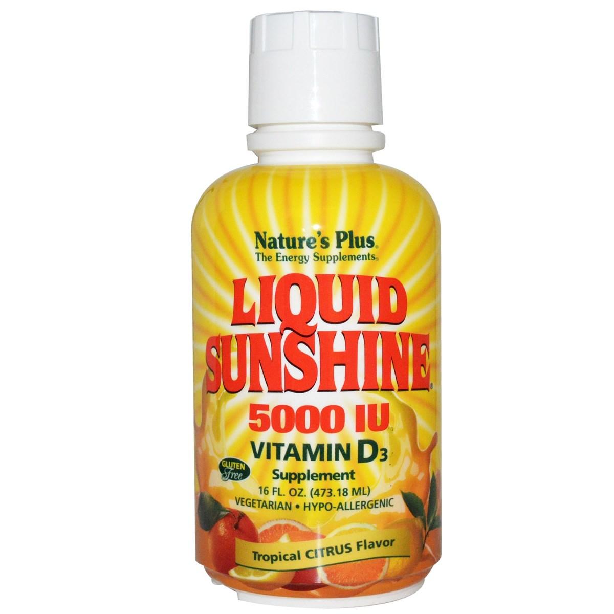 Natures Plus Liquid Sunshine Vitamin D3 1667 IU - Tropical Citrus