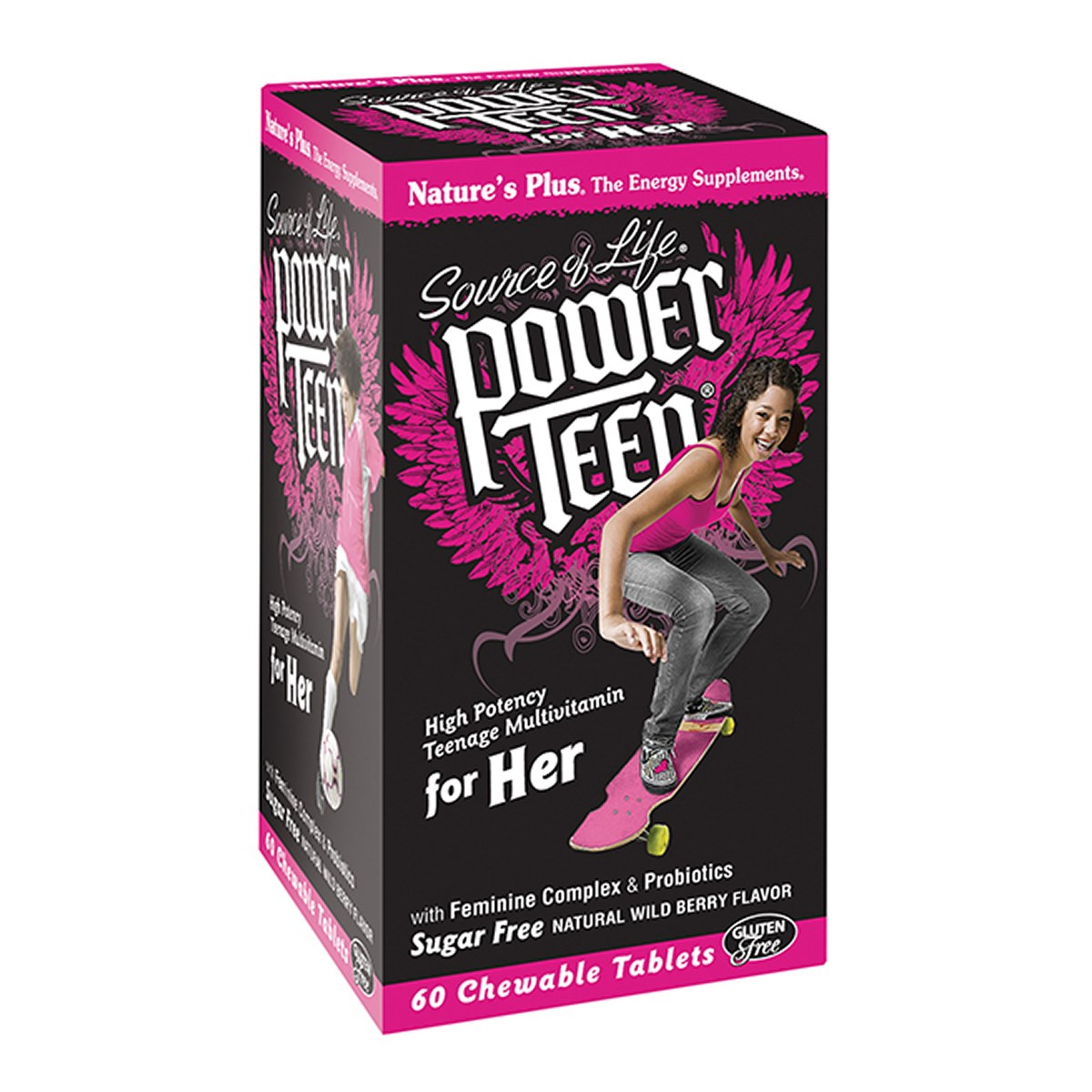 Natures Plus Power Teen For Her Chewable Multi - Wild Berry