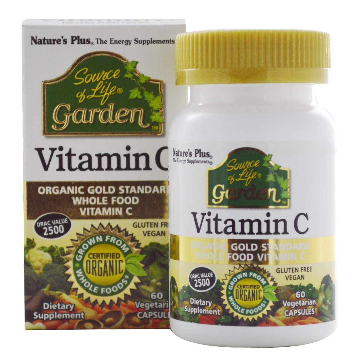 Natures Plus Source of Life Garden Vitamin C 500 mg Vcaps