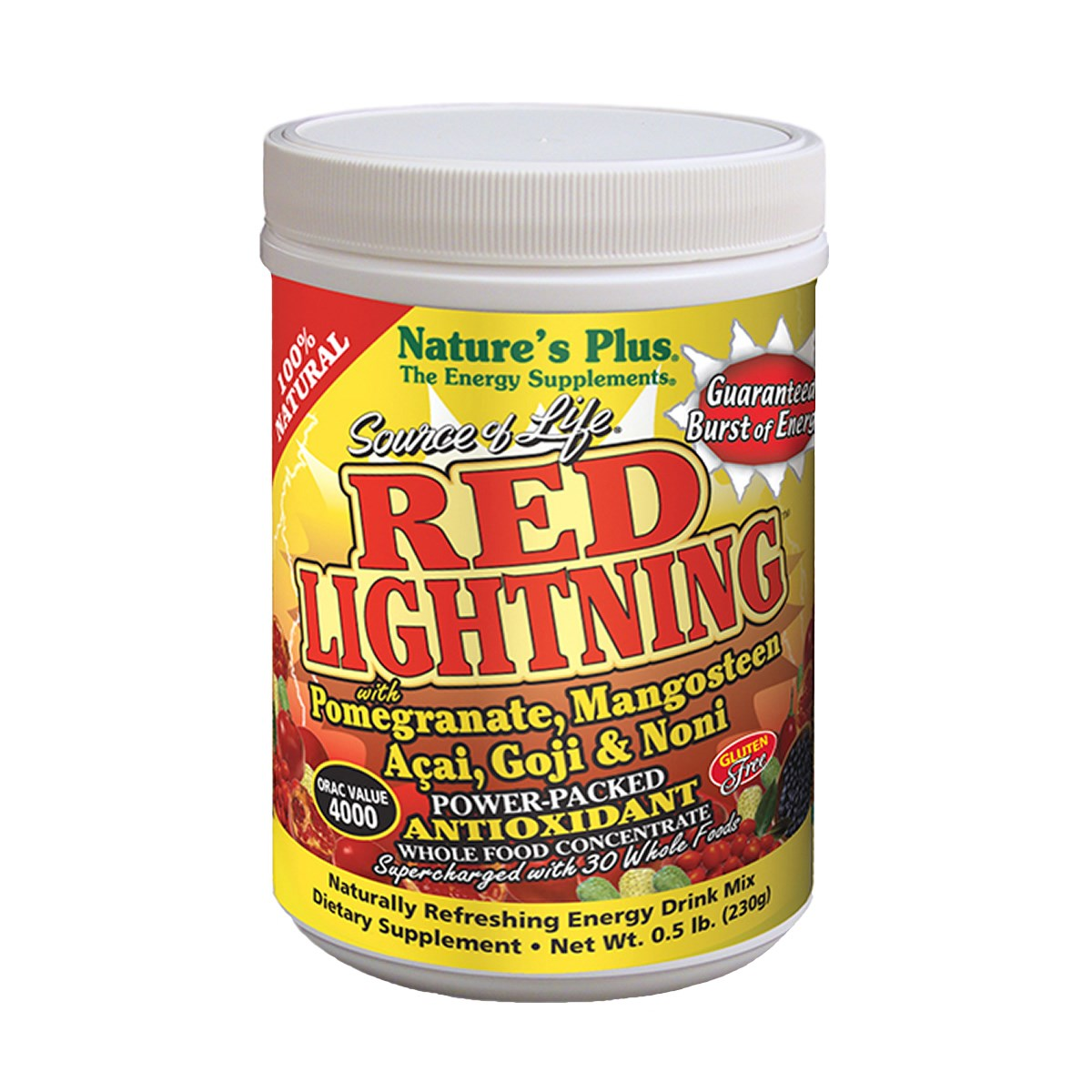 Natures Plus Source of Life Red Lightning Antioxidant Energy Drink