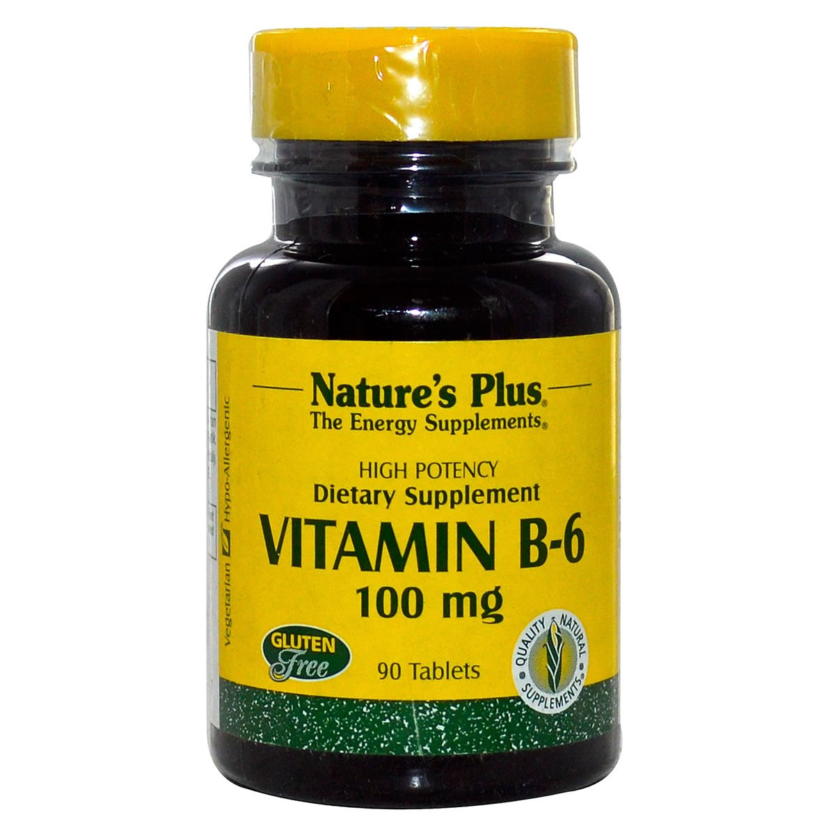 Natures Plus Vitamin B-6 100 mg Tablets