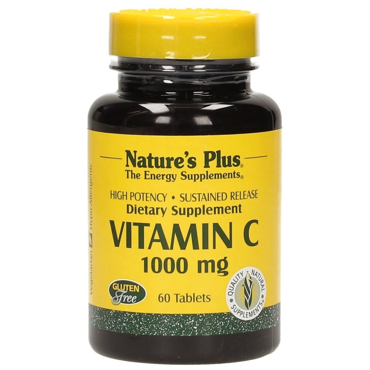 Natures Plus Vitamin C 1000mg with Rose Hips Sustained Release Tablets