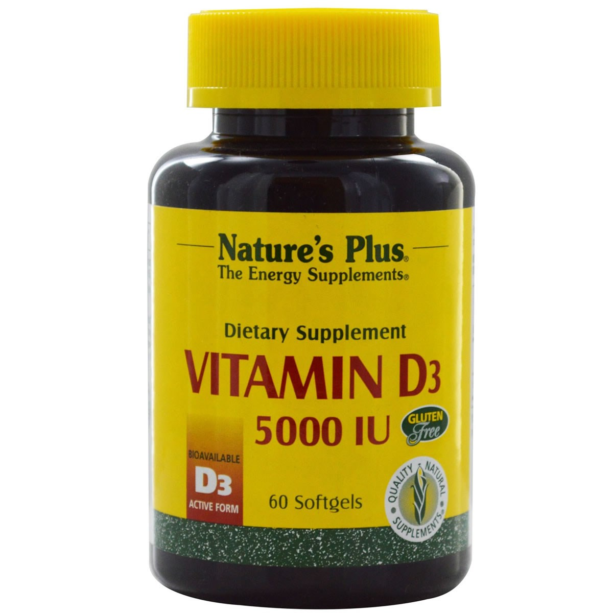 Natures Plus Vitamin D3 5000 IU Softgels