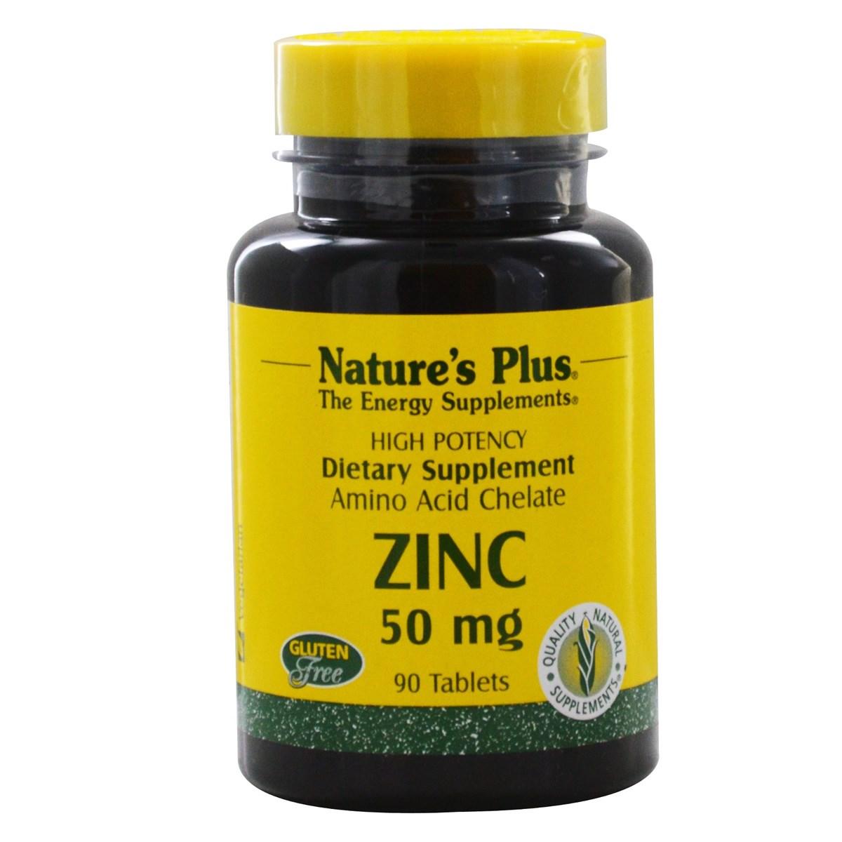 Natures Plus Zinc 50 mg Tablets
