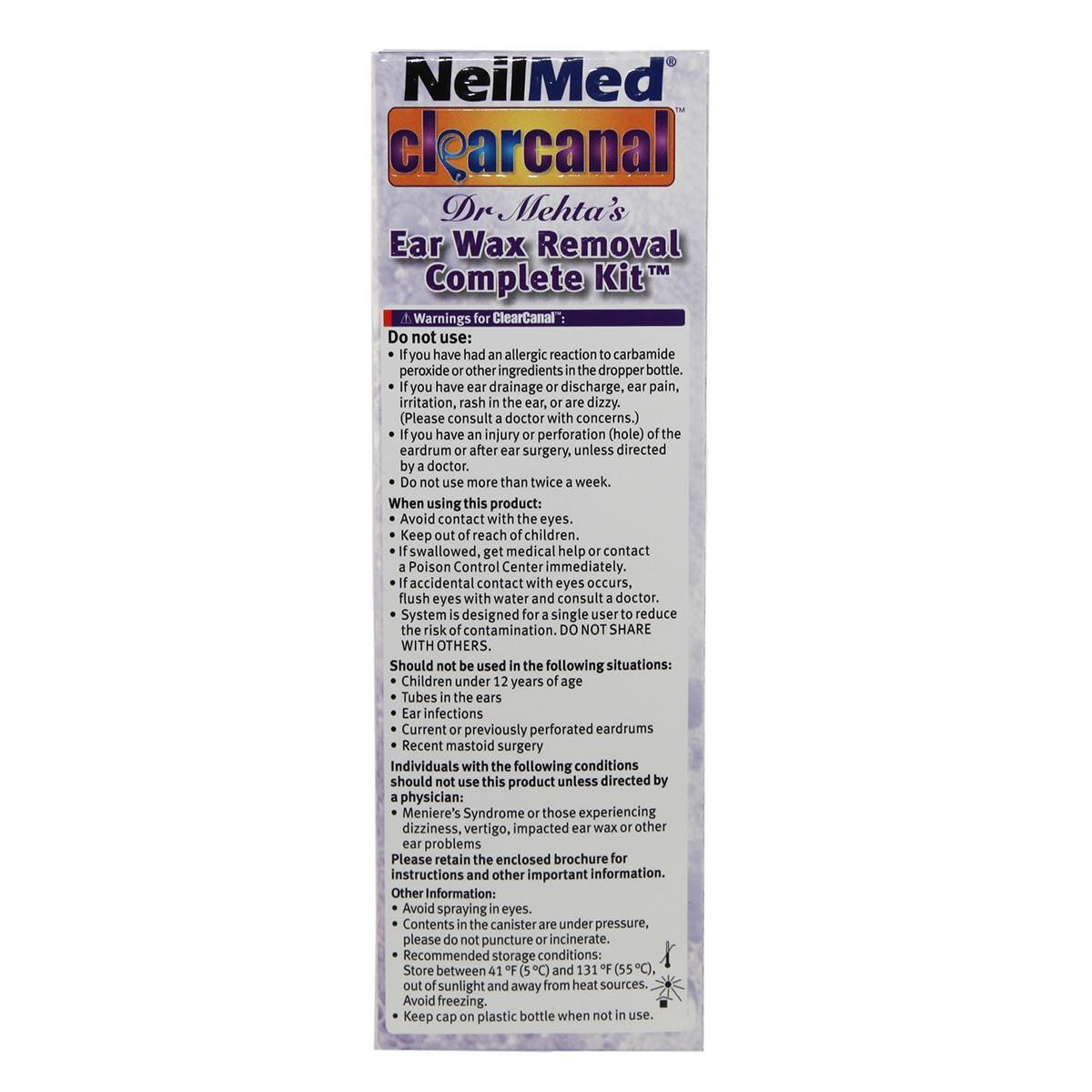 NeilMed ClearCanal Ear Wax Removal Complete Kit