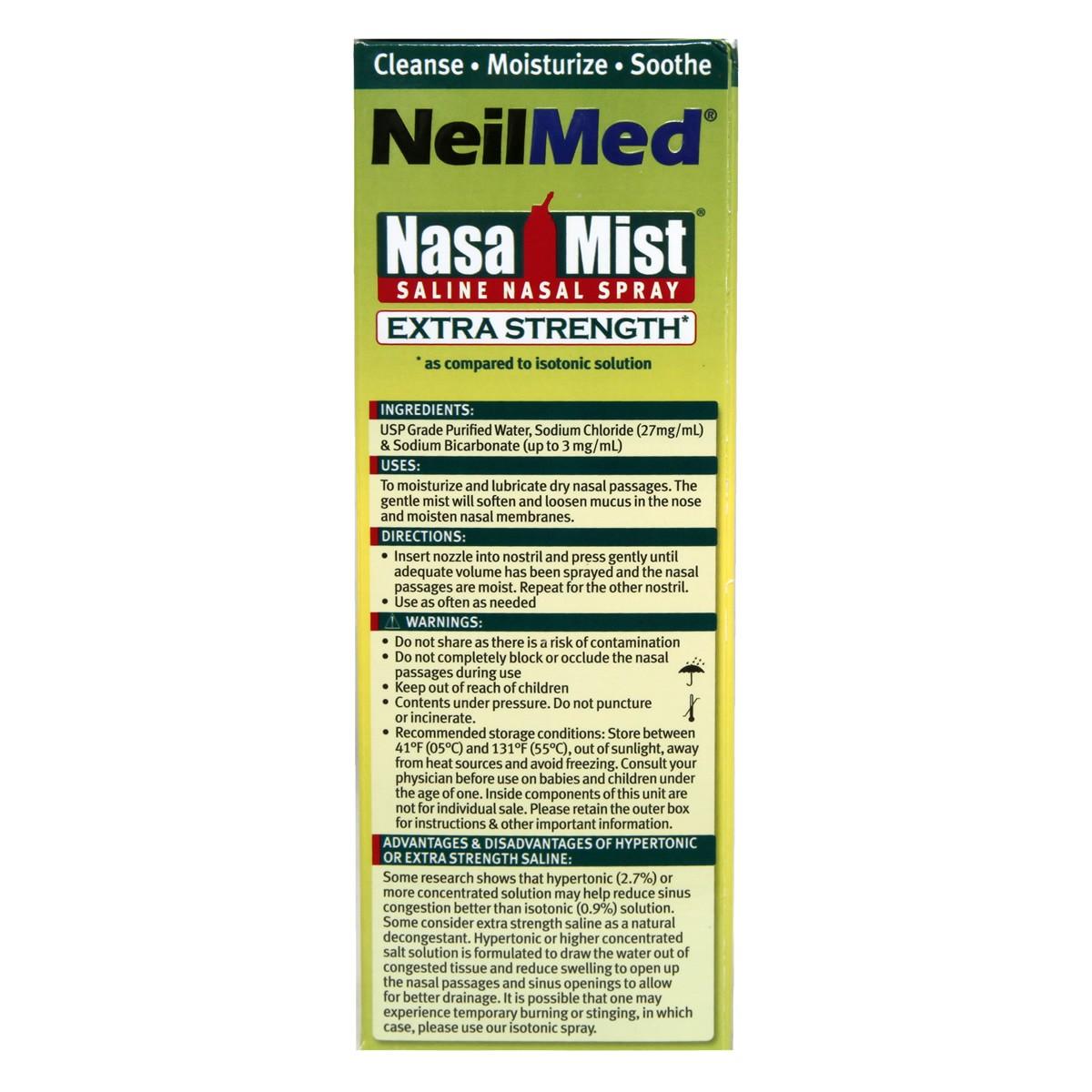 NeilMed Hypertonic NasaMist Extra Strength Saline Nasal Spray