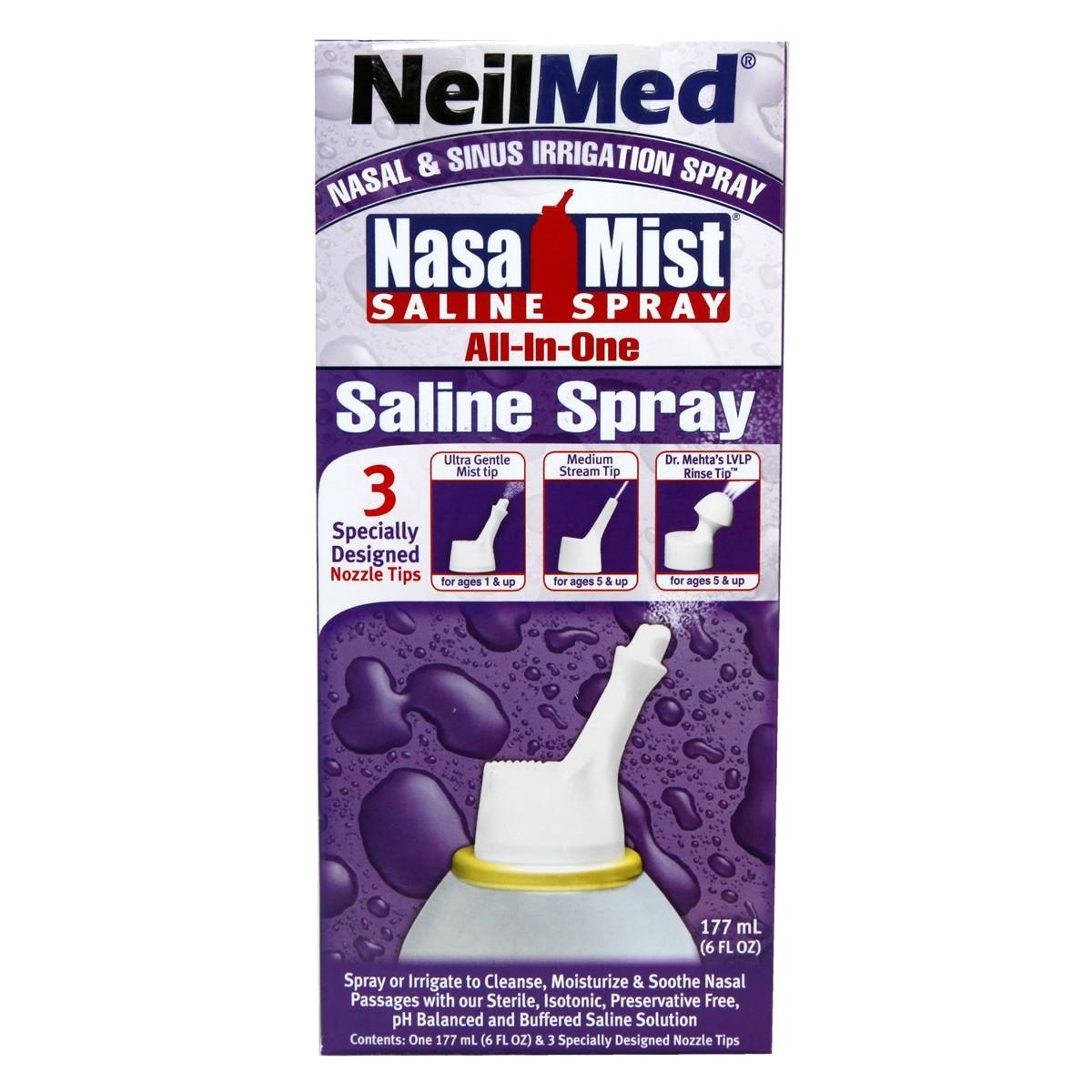 NeilMed NasaMist All-in-One Saline Spray
