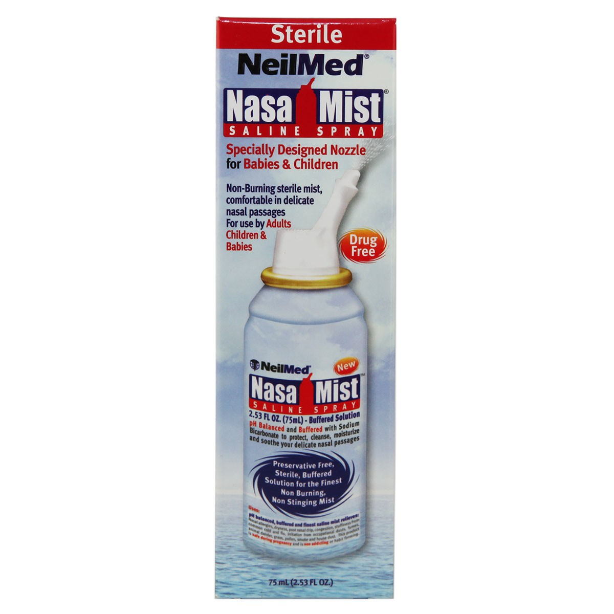 NeilMed NasaMist Saline Spray( Adults & Children)